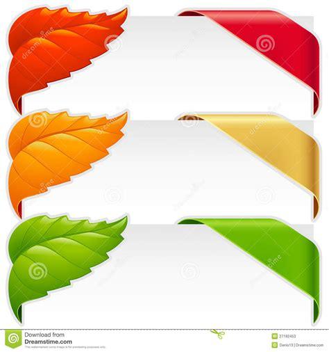 Pita Ribbon 1030 New corner ribbons and fallen leaf vector set stock photos image 27182453