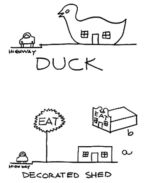 Duck Decorated Shed by Venturi Brown S Duck Vs Decorated Shed The Past