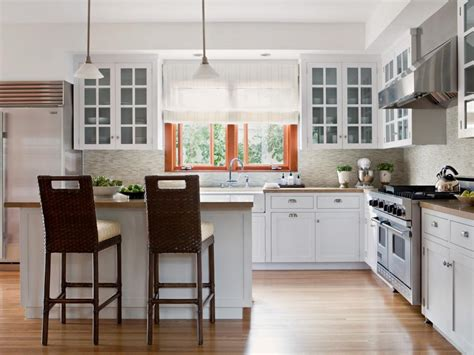 Kitchen Island Next To Window 10 Stylish Kitchen Window Treatment Ideas Hgtv