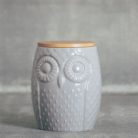 Owl Kitchen Canisters by Sitka Canister Relish Decor