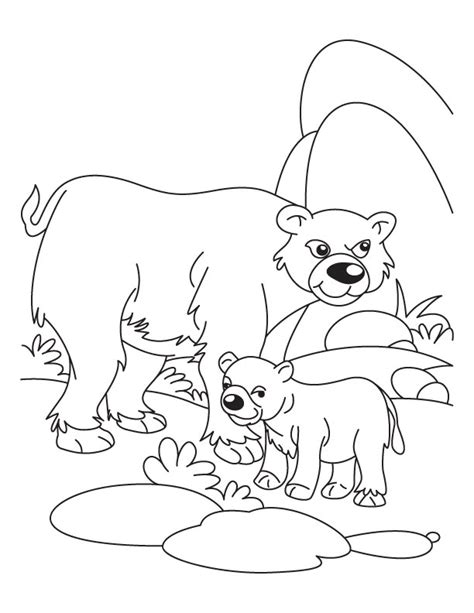 free coloring pages of animals and their babies free coloring pages of bear cubs