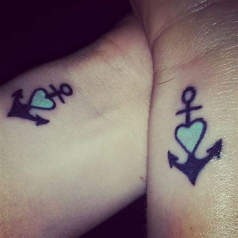 best friend anchor tattoos best friend tattoos