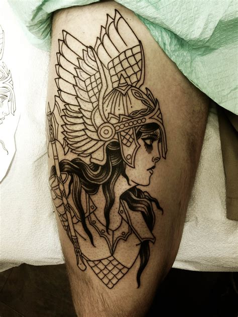 tattoo session session of my valkyrie by stefan johnsson