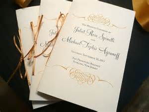 classical program template wedding program booklet gold programs by pinkorchidinvites