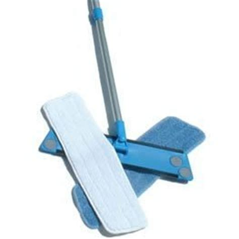 simplee cleen microfiber swivel household mop kit with two pads cleaning tools dust mops and