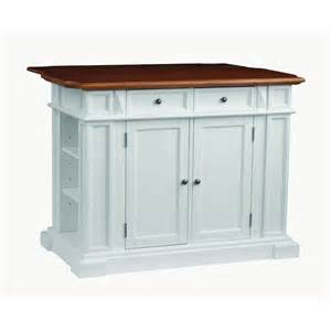 Drop Leaf Kitchen Islands Home Styles Traditions Distressed Oak Drop Leaf Kitchen Island In White 5002 94 The Home Depot