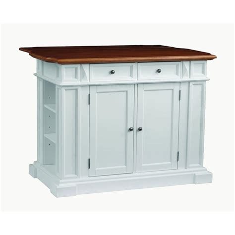 White Kitchen Island With Drop Leaf Home Styles Traditions Distressed Oak Drop Leaf Kitchen Island In White 5002 94 The Home Depot