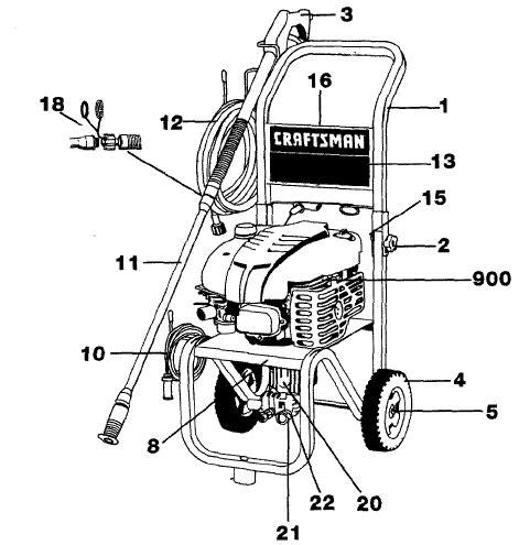 craftsman pressure washer parts diagram sears craftsman pressure washer model 919762350