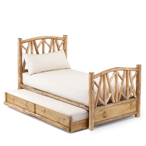 rustic twin bed rustic trundle bed 4510l 4514r