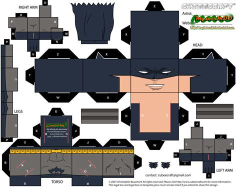 Papercraft Batman - grayson batman paper free printable papercraft