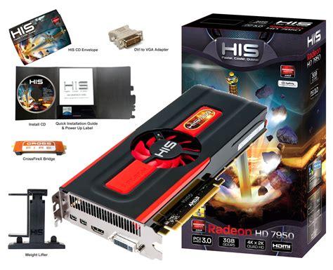 Vga Amd Radeon Hd 7950 his also outs radeon hd 7950 graphics card