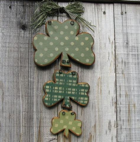 Shamrock Decorating by St S Day Decor Rustic Shamrock Trio Me