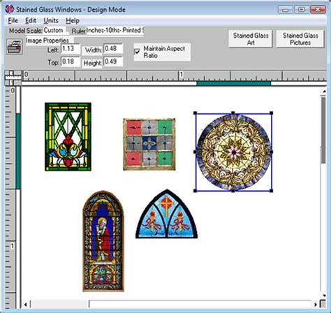stained glass pattern design software miniatures and model trains stained glass modeling software