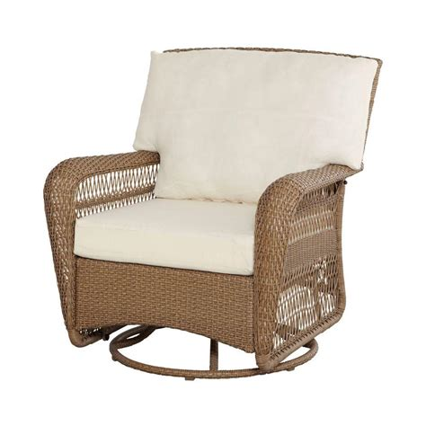 wicker swivel rocker patio chairs hton bay grey all