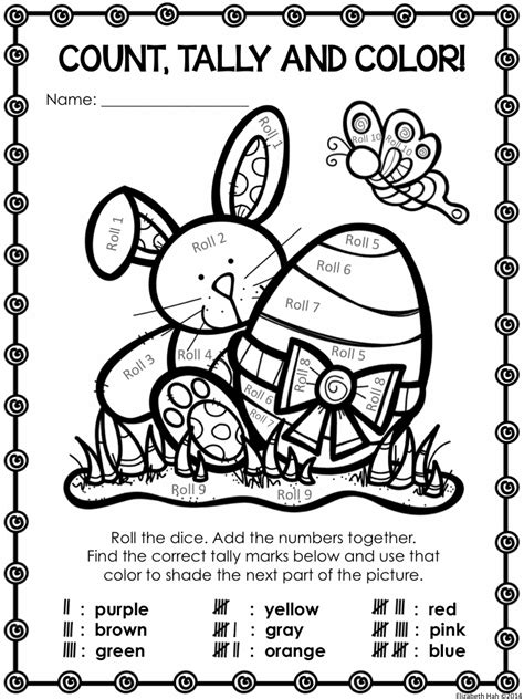 easter coloring pages for 2nd grade free easter count tally and color activity in us and