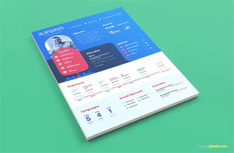 modern resume templates free psd modern resume template in psd with cover letter zippypixels