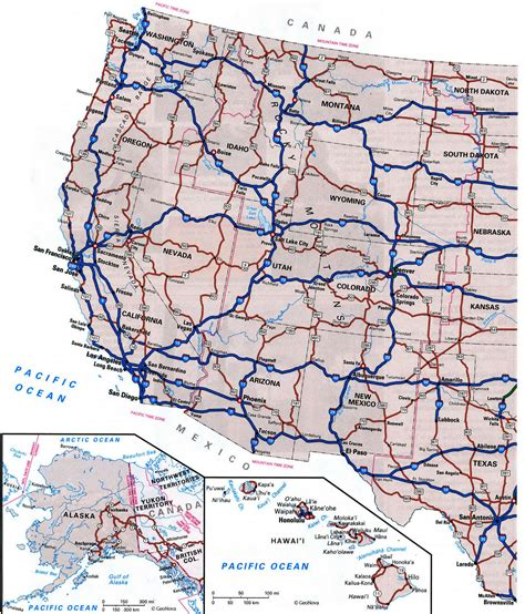 map usa states cities and highways highway cities of usfree maps of us