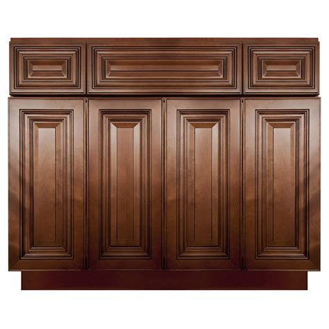 Bathroom Vanity Base Cabinets by Lesscare Geneva 48 Quot Bathroom Maple Vanity Sink Base Cabinets Ebay