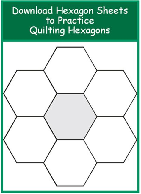 Hexagon Templates For Patchwork - excellent article on quilting hexagons has templates for