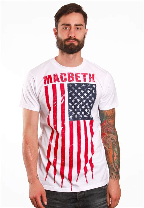 T Shirt Macbethcom W7qe macbeth laced flag white t shirt impericon worldwide