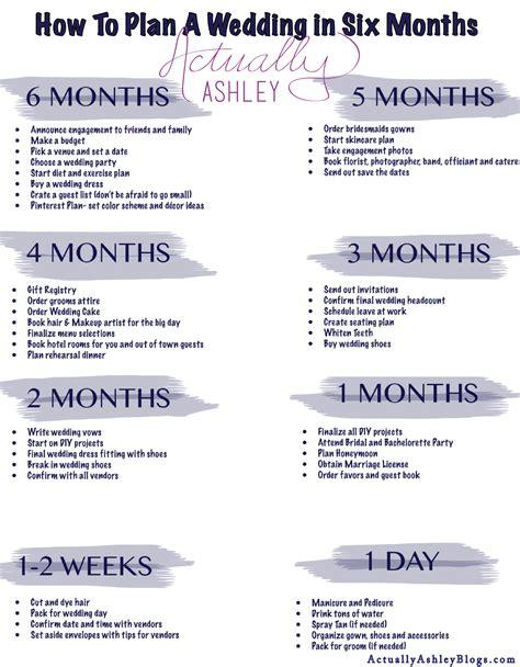 wedding checklist 4 5 months the mba bride