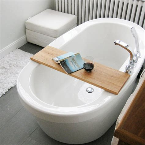 tray for bathtub wood bath tub caddy platter tray of salvaged wood spa natural
