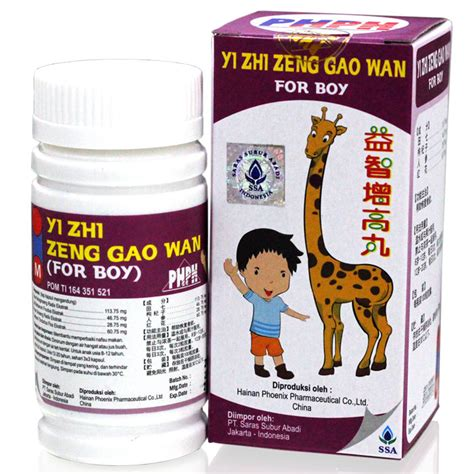 Bedak Zhi yi zhi zeng gao wan for boy 100s grow up pills promo gogobli