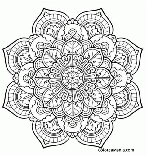 imagenes de mandalas lindos para colorear colorear mandala ptalos mandalas dibujo para colorear