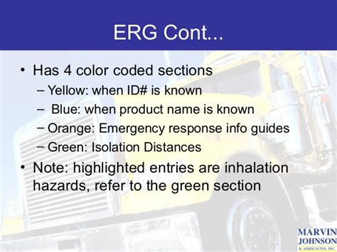 green section of erg hazmat training