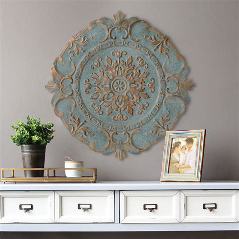 european home decor stratton home decor blue european medallion wall decor