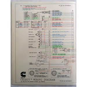 new cummins l10 m11 n14 celect engines electrical diagram laminated brochure