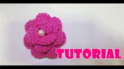 tutorial fiore uncinetto tutorial fiore 3d alluncinetto 3d crochet flower