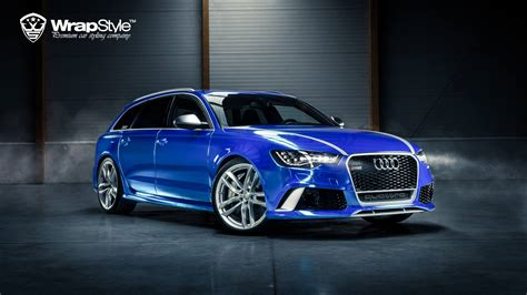 New Chrome Blue audi rs6 quot joker quot wrapped in blue chrome autoevolution