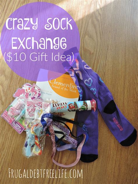 crazy sock exchange 10 gift idea frugal debt free