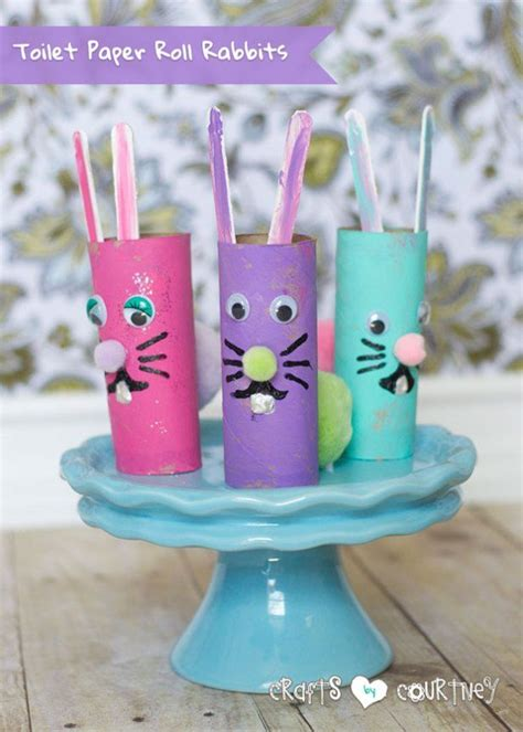 Easter Toilet Paper Roll Crafts - create toilet paper roll rabbits for easter toilet paper