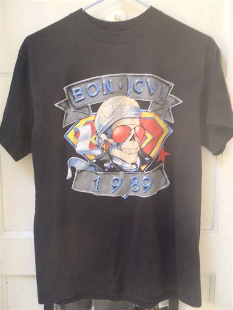 1989 bon jovi vintage rock band concert tour t shirt large 80s glam metal shirts metals