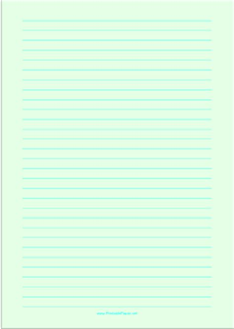 Bright Green Printer Paper - printable lined paper light green wide cyan lines a4