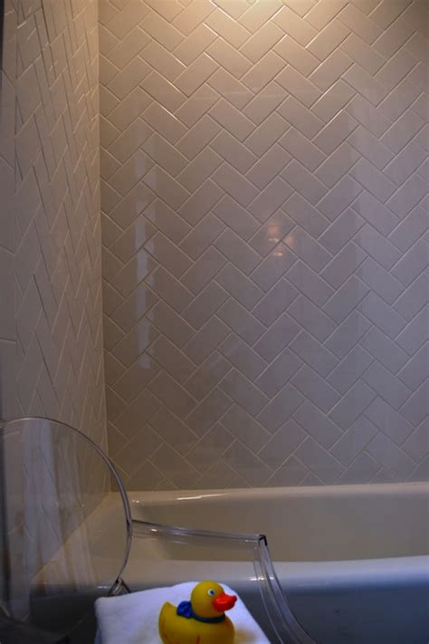 subway tile patterns transitional bathroom teresa