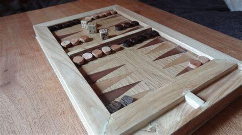 Handmade Board - handmade recycled oak elm backgammon set by
