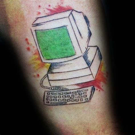 tattoo my photo pc 50 computer tattoo designs for men technology ink ideas