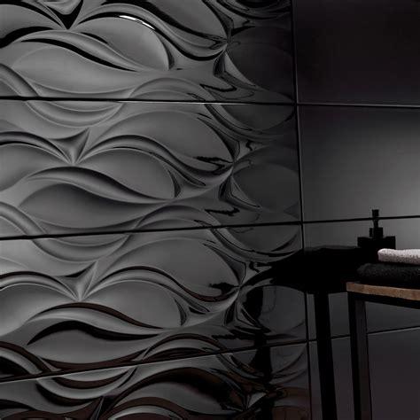 azulejo negro leroy merlin revestimiento 25x75 cm negro brillo serie benares ref