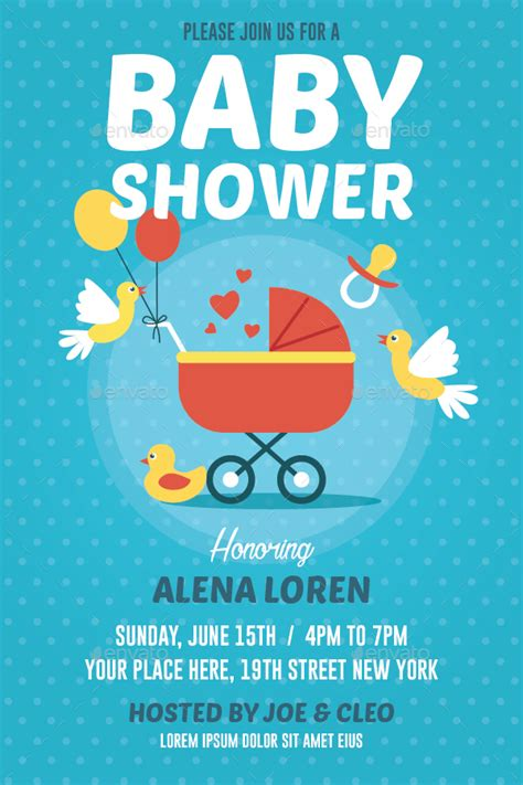 baby shower flyer by bonezboyz graphicriver