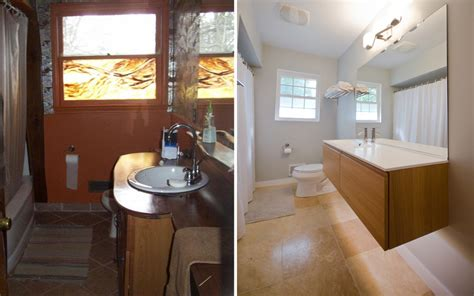 before and after bathroom remodels pictures blog labra design build