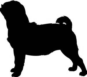pug vector pug silhouette free vector silhouettes