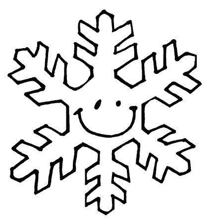 cartoon snow flake clipart