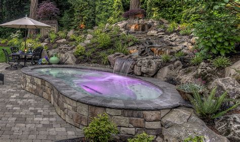 outdoor gardening water feature design ideas with water