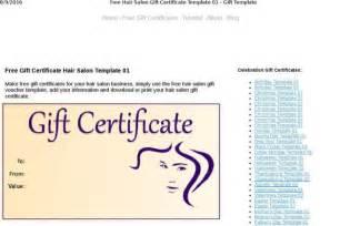 hair salon gift certificate template free certificate template free premium templates