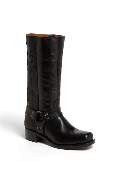 frye americana harness boot in black for lyst
