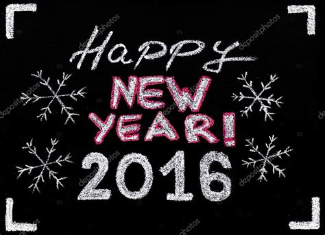 new year 14th feb 2016 feliz a 241 o 2016 de la mano escribiendo con tiza en la