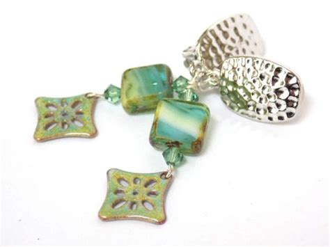 most comfortable clip on earrings comfortable clip on earrings green earrings for women dangle